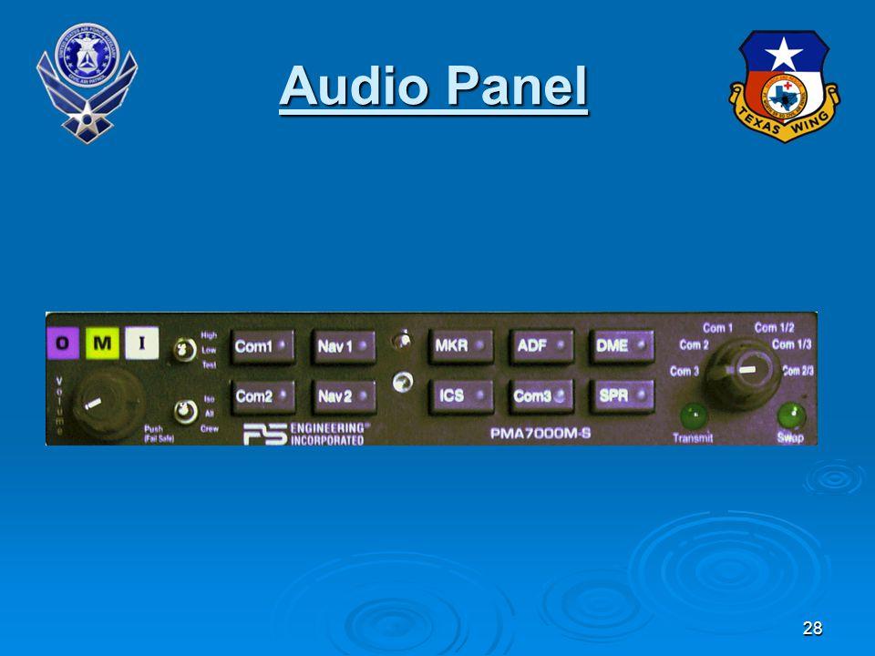 28 Audio Panel