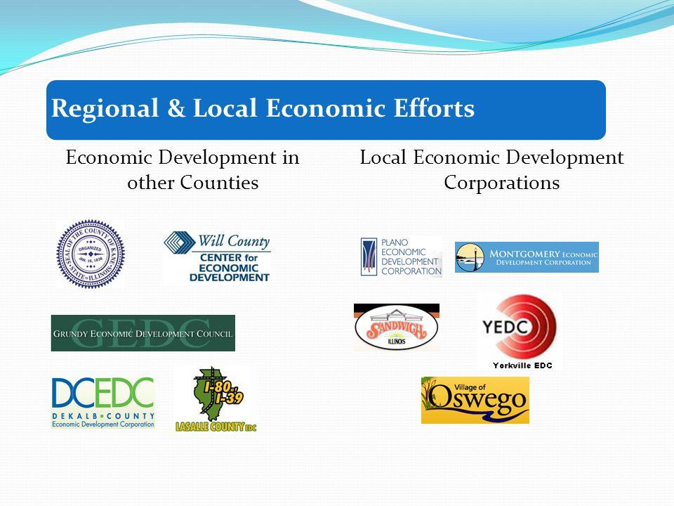 Regional & Local Economic Efforts Economic Development in other Counties Local Economic Development Corporations