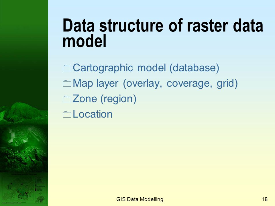 GIS Data Modelling17 Grid with attributes