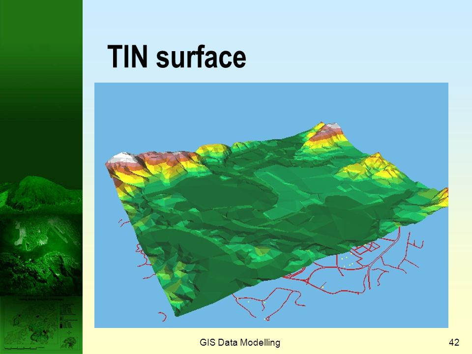 GIS Data Modelling41 Creating TIN from contours