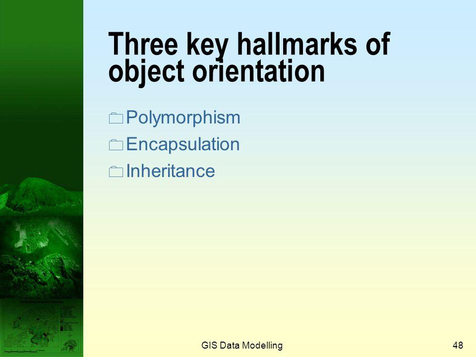 GIS Data Modelling47 Implementation of O-O model