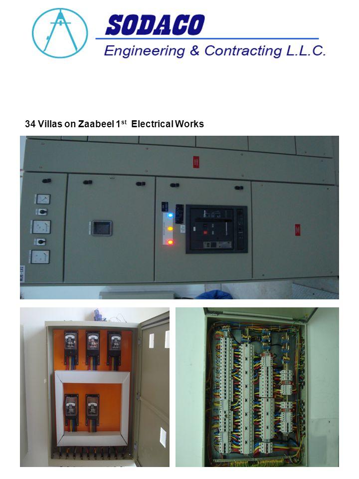 34 Villas on Zaabeel 1 st Electrical Works