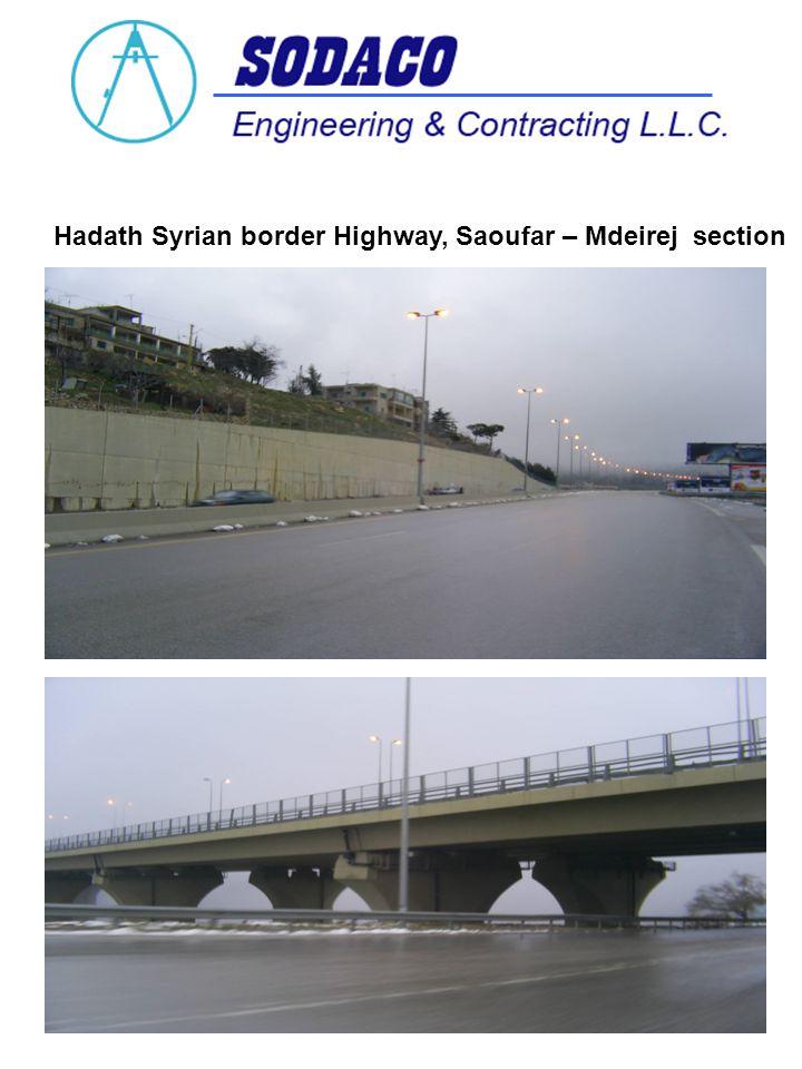 Hadath Syrian border Highway, Saoufar – Mdeirej section