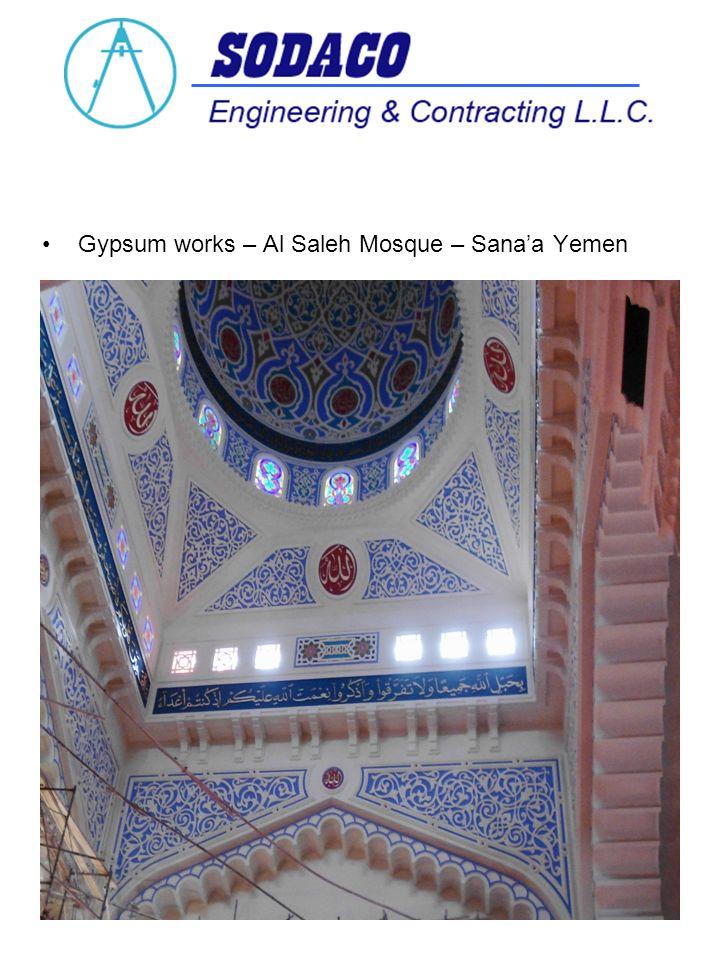 Gypsum works – Al Saleh Mosque – Sanaa Yemen