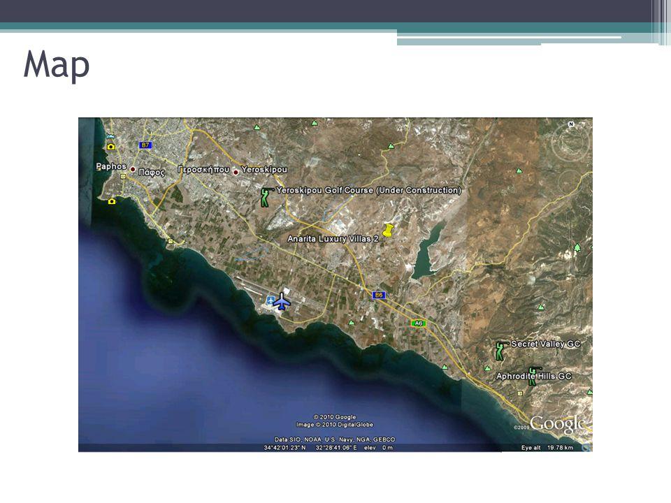 Location Airport: 5km Town: 11km Beach: 5km Golf : 6km School: 1km