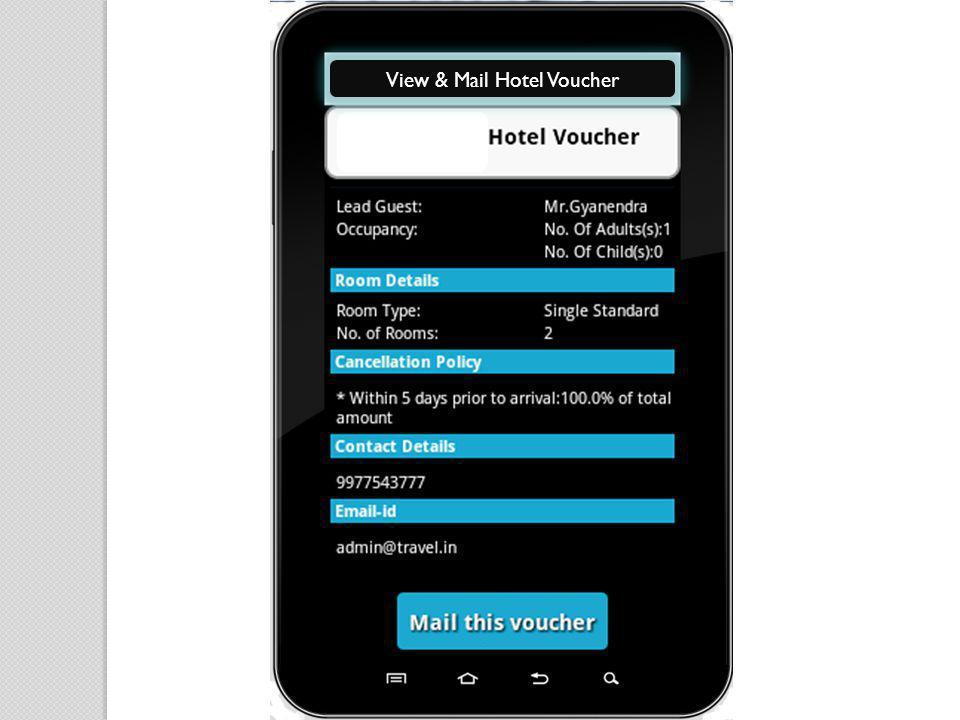 View & Mail Hotel Voucher