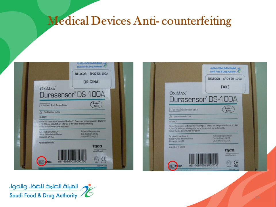 Medical Devices Anti- counterfeiting 19