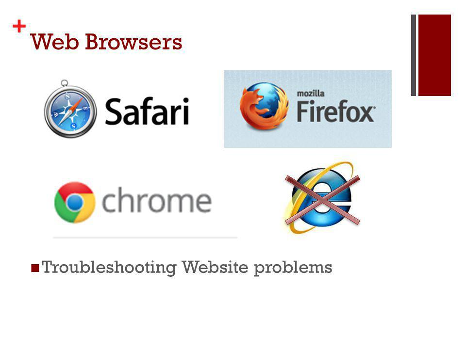+ Web Browsers Troubleshooting Website problems