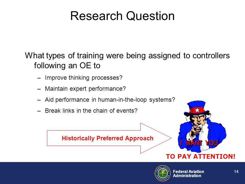 Federal Aviation Administration 13 Air traffic control performance requires cognitive resources to accomplish. It is primarily a thinking activity. Ai