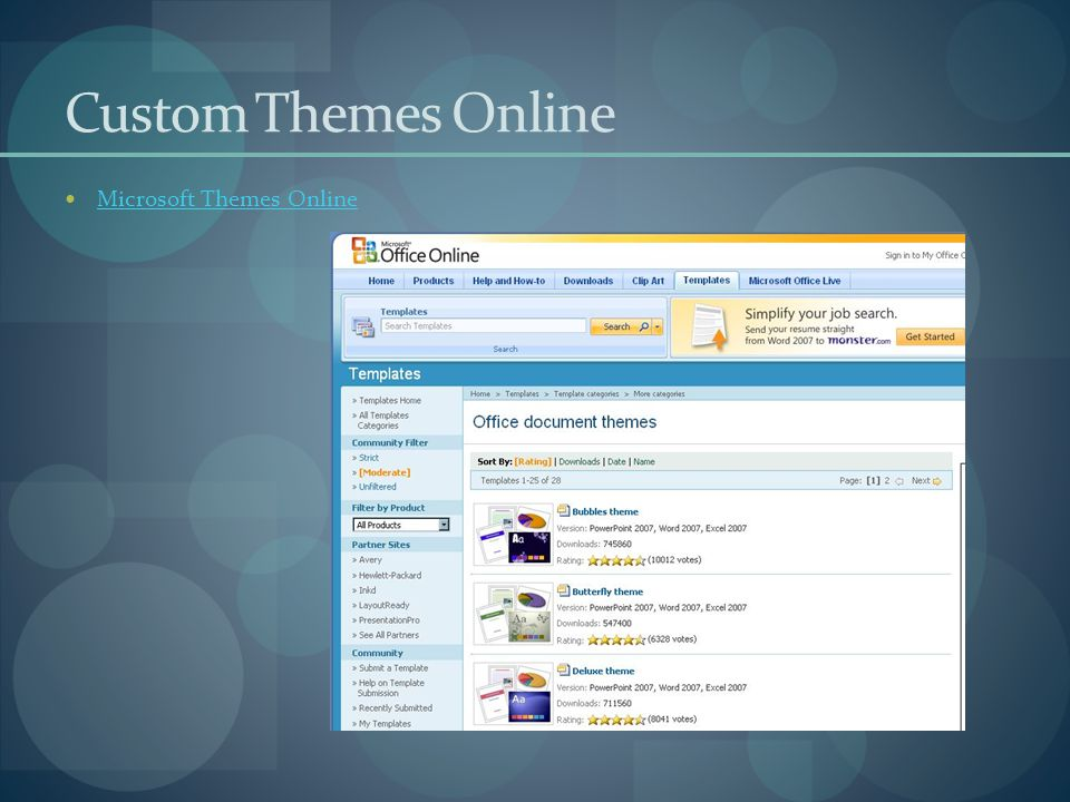 Custom Themes Online Microsoft Themes Online