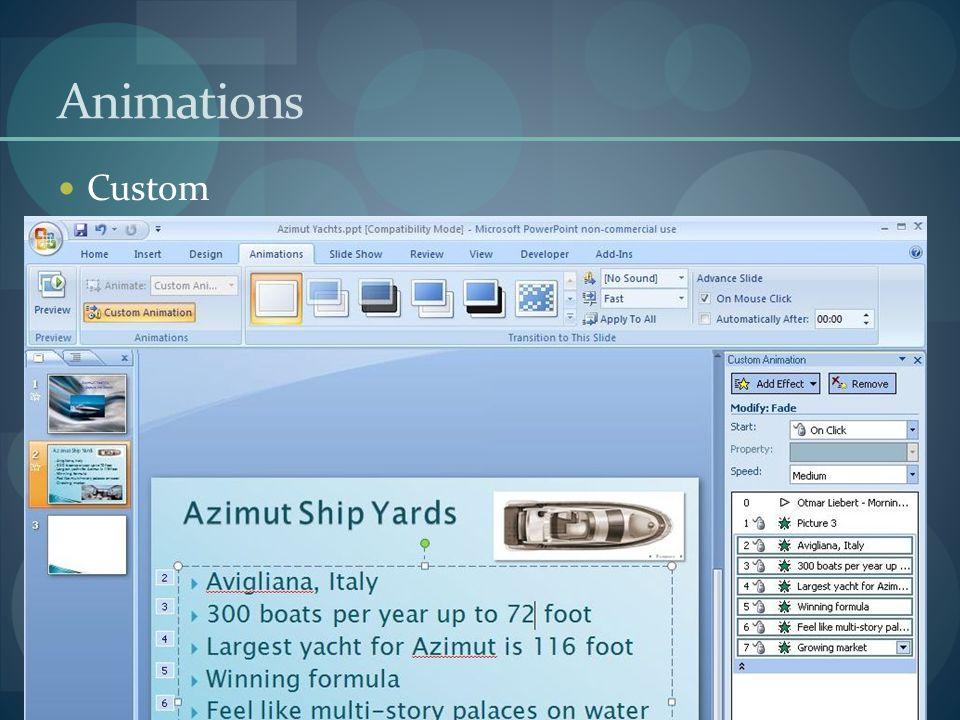 Animations Custom