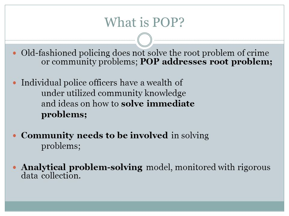 What is POP.