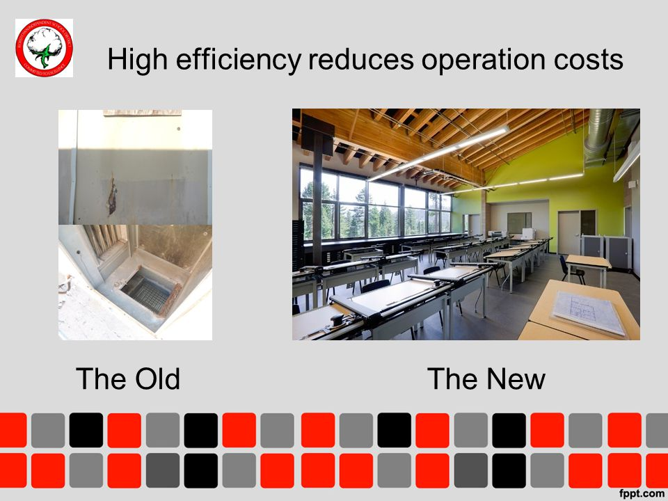 High efficiency reduces operation costs The OldThe New Place picture of any openings to the exterior or dilapidated AC units