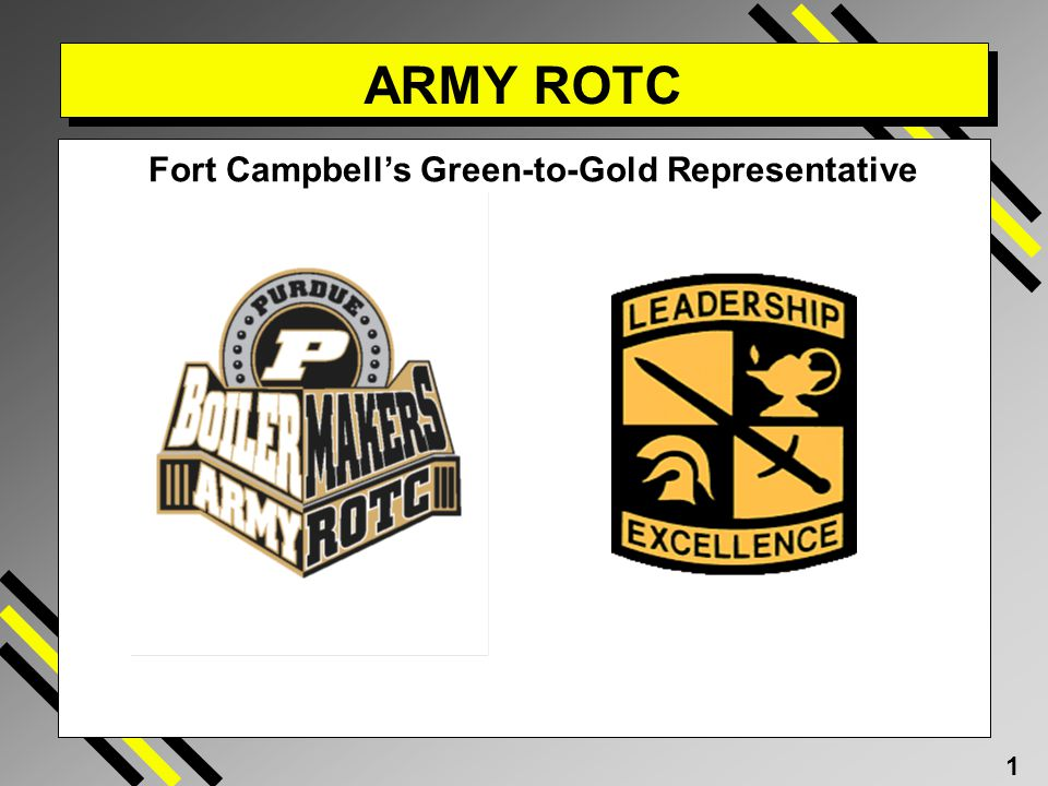 1 ARMY ROTC Fort Campbells Green-to-Gold Representative