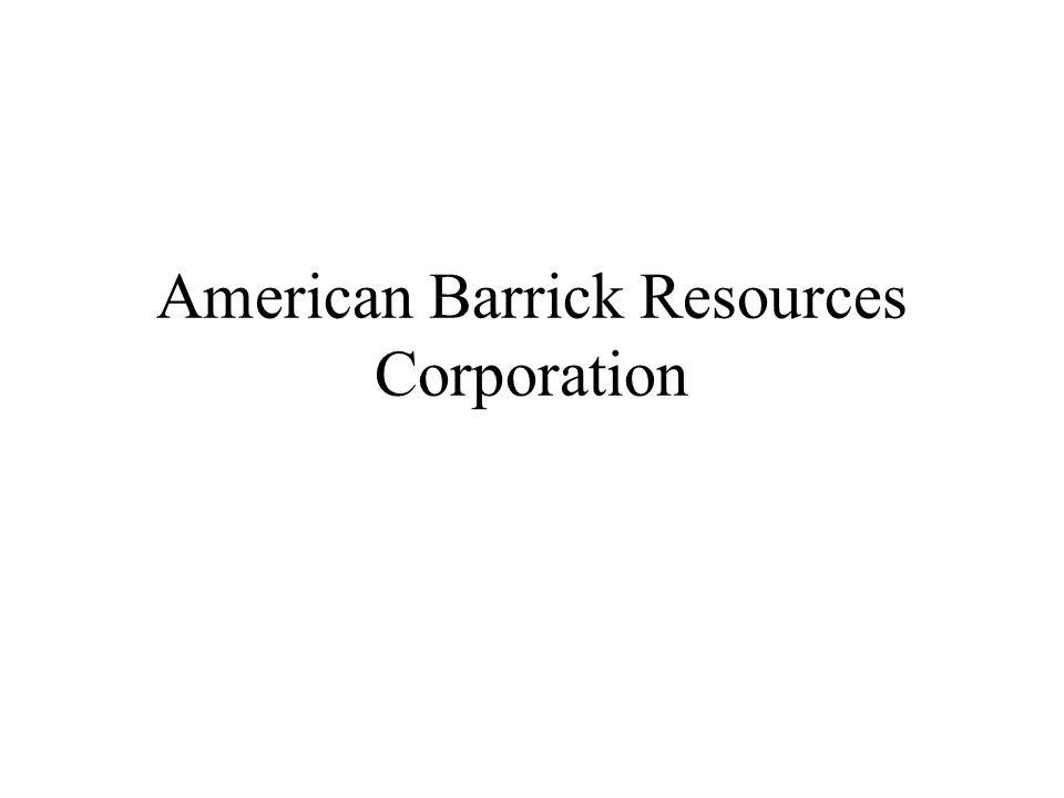 American Barrick Resources Corporation