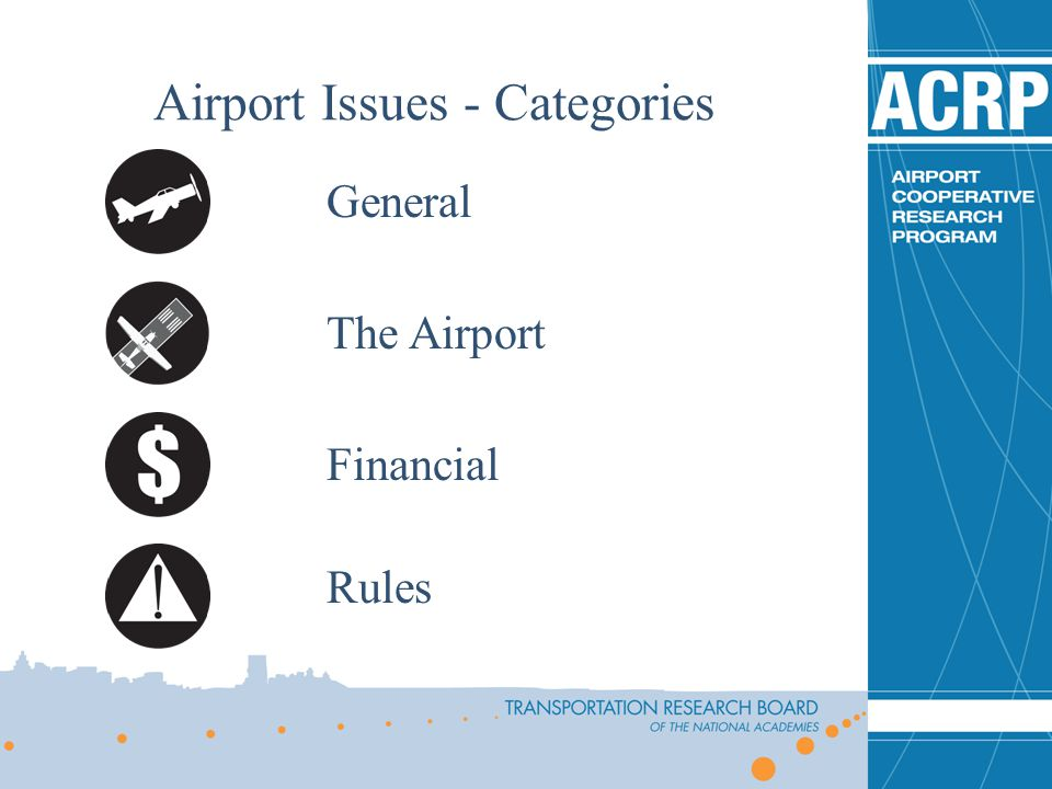 General The Airport Financial Rules Airport Issues - Categories
