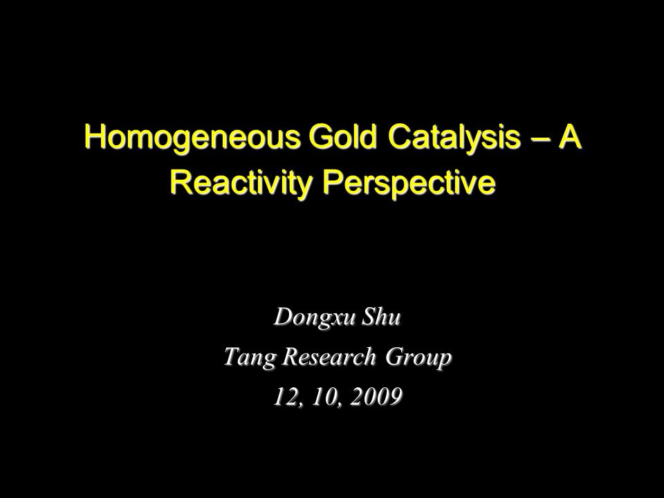 2 Contents Relativistic effect and reactivity π-acidity reactivity Gold catalyzed coupling reaction Summary