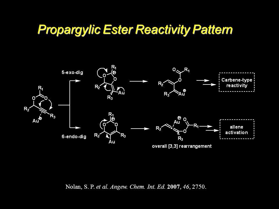 19 Propargylic Ester Reactivity Pattern Nolan, S. P. et al. Angew. Chem. Int. Ed. 2007, 46, 2750.