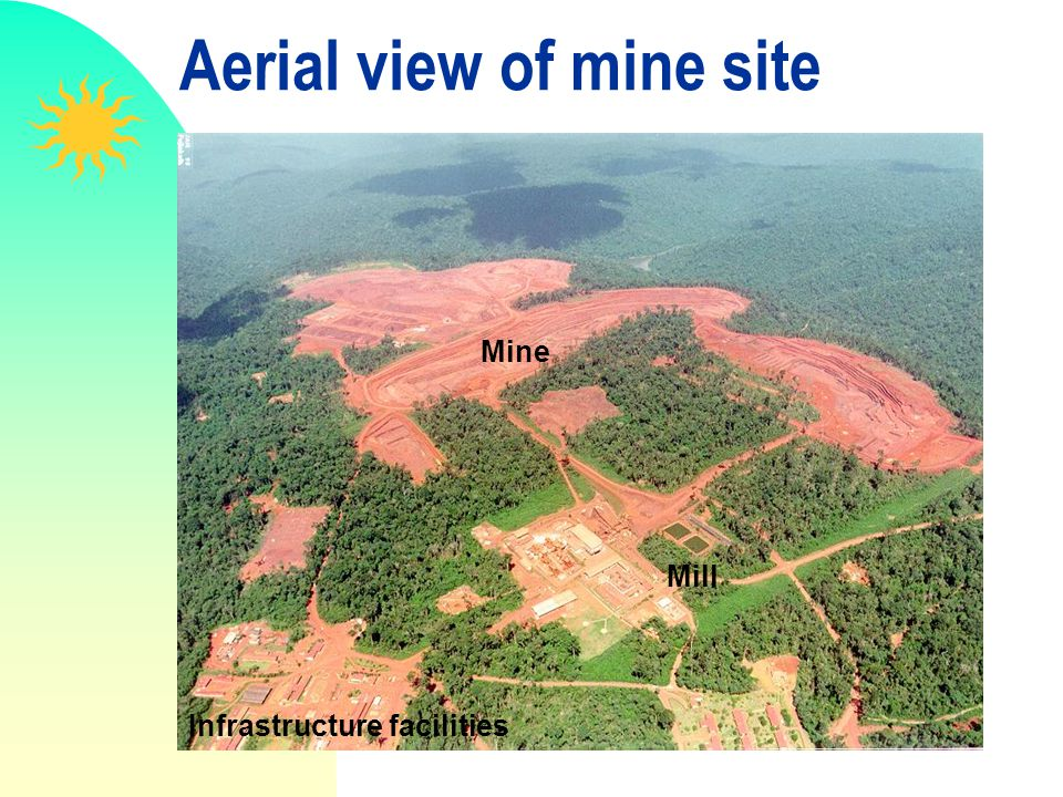 Aerial view of mine site Mine Mill Infrastructure facilities