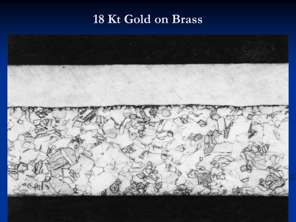18 Kt Gold on Brass