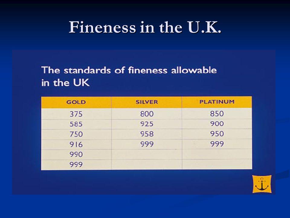 Fineness in the U.K.