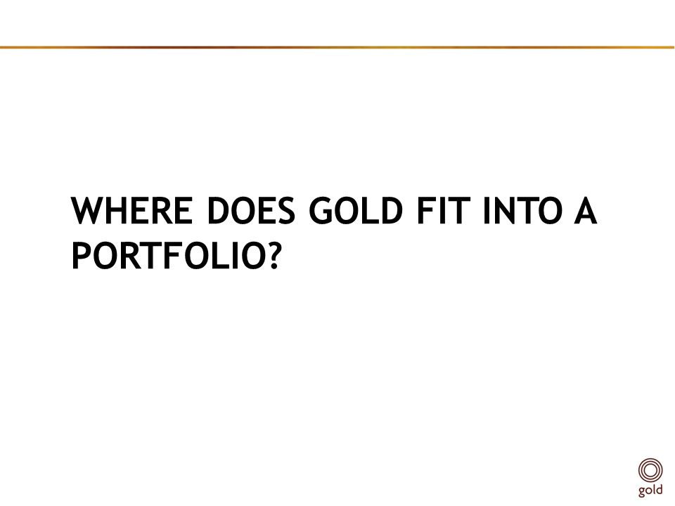 WHERE DOES GOLD FIT INTO A PORTFOLIO?