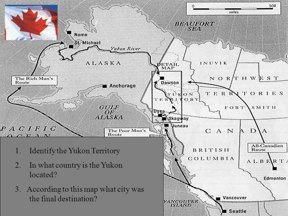 1.Identify the Yukon Territory 2.In what country is the Yukon located.