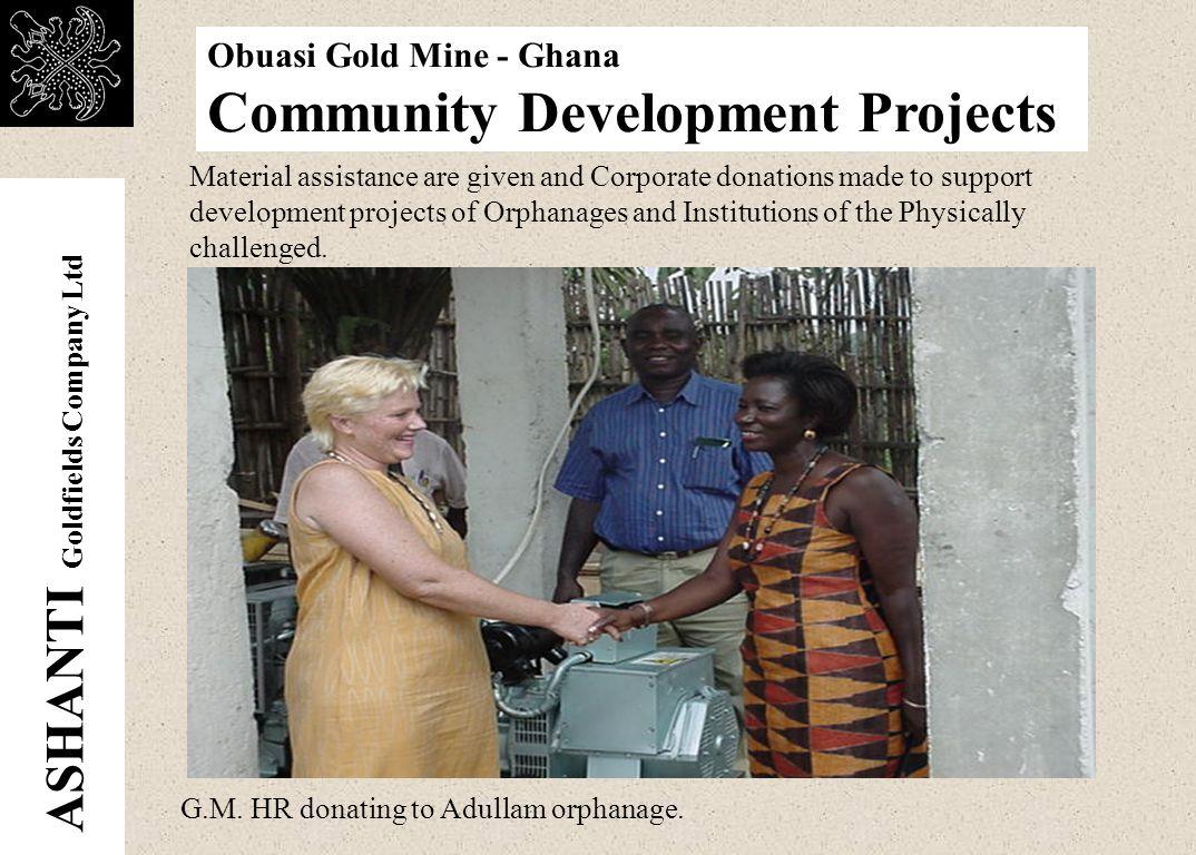 ASHANTI Goldfields Company Ltd Obuasi Gold Mine - Ghana Community Development Projects Jimiso water system.