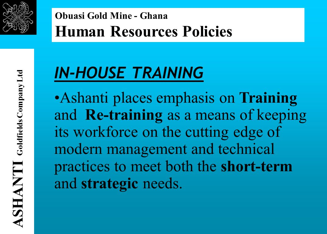 ASHANTI Goldfields Company Ltd Obuasi Gold Mine - Ghana Forms of Community Assistance One of the New Bidiem resettlement houses.
