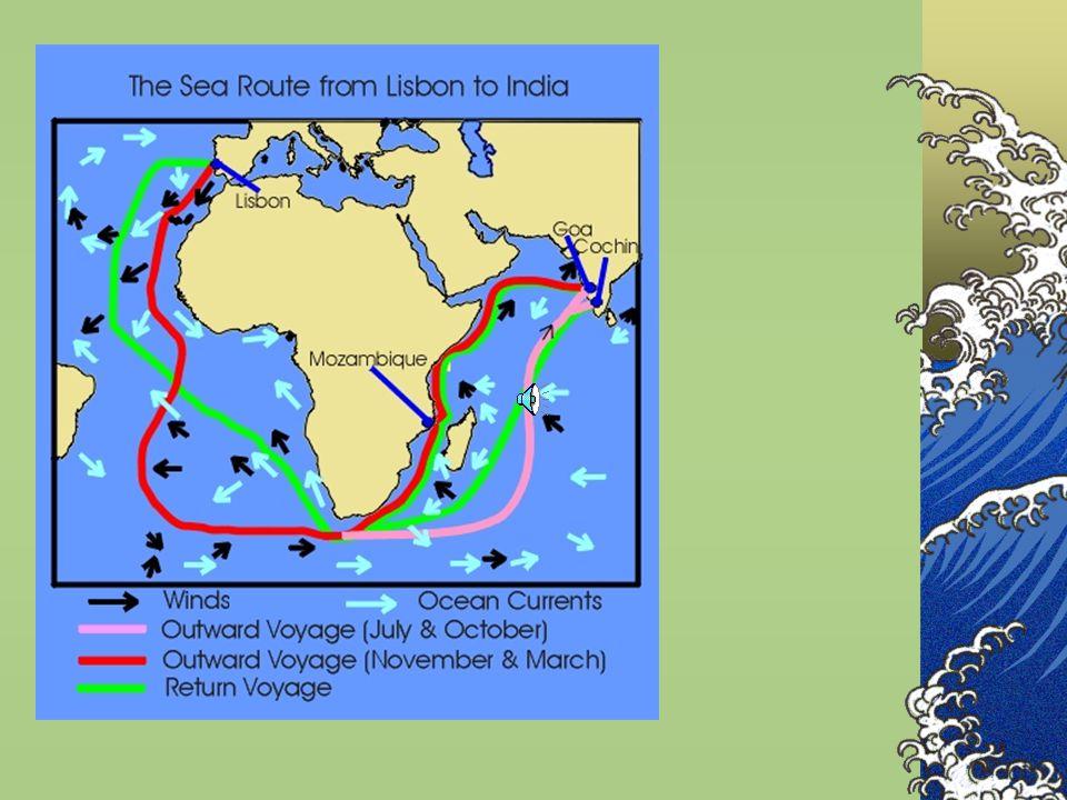 Vasco da Gama In his first voyage, da Gama managed to reach Calicut in India (his goal) and sail home. The ruler of Calicut, (Samuri) welcomed da Gama