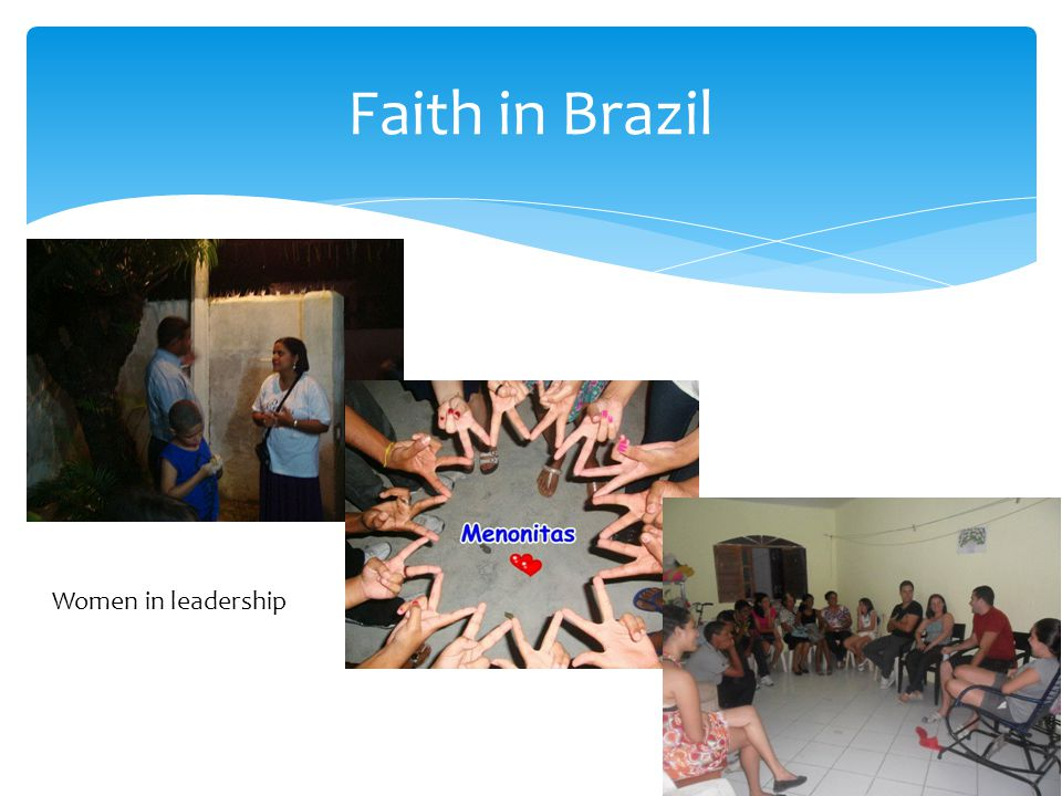Faith in Brazil Women in leadership