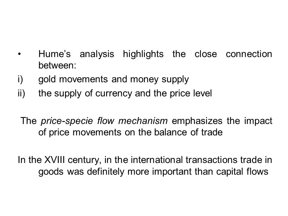 - During the XIX century the textbook treatments of the classical gold standard included the banking system, but portrayed central banks as obeying rules of the game According to these rules, monetary authorities had to intervene in order to reinforce the impact of gold flows on domestic money and credit and to speed up the equilibrating mechanism