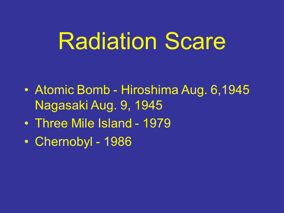 Fallout Products Iodine-131 Strontium-90 Cesium-137 Over 200 radioactive products