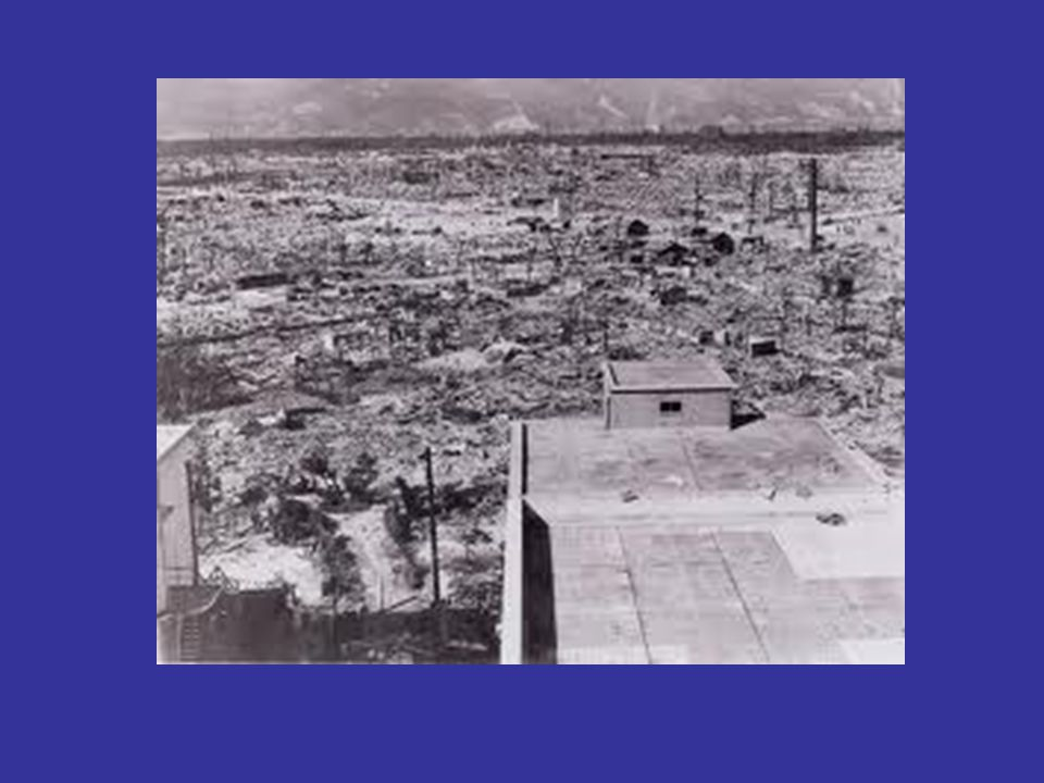 Atomic Bomb August 2, 1939 - Einsteins letter to FDR warning about Germanys effort to purify U- 235 Manhattan Project 1939 - 1945 July 16, 1945 first bomb exploded - Gadget Los Alamos NM August 6, 1945 Hiroshima August 9, 1945 Nagasaki
