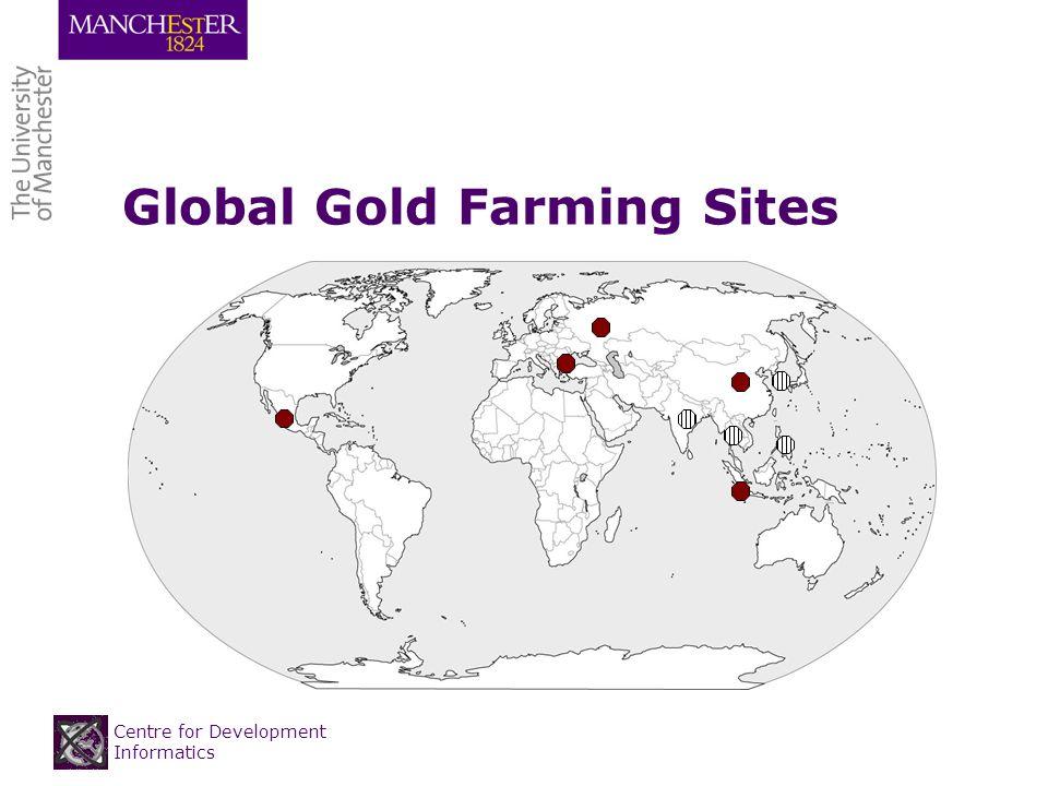 Centre for Development Informatics Global Gold Farming Sites