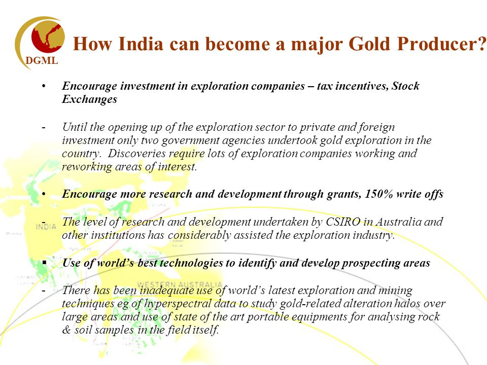 DGML How India can become a major Gold Producer.
