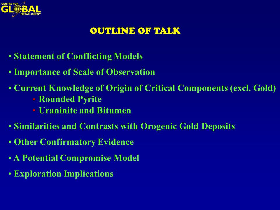 OUTLINE OF TALK Statement of Conflicting Models Importance of Scale of Observation Current Knowledge of Origin of Critical Components (excl.
