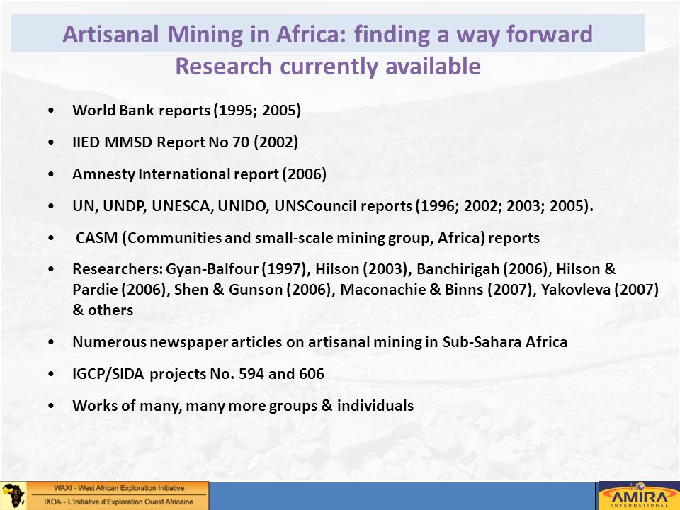 Annual Sponsors Meeting, Dakar 2-4 May 2012 16 © – Not for duplication or circulation without permission Artisanal Mining in Africa: finding a way for