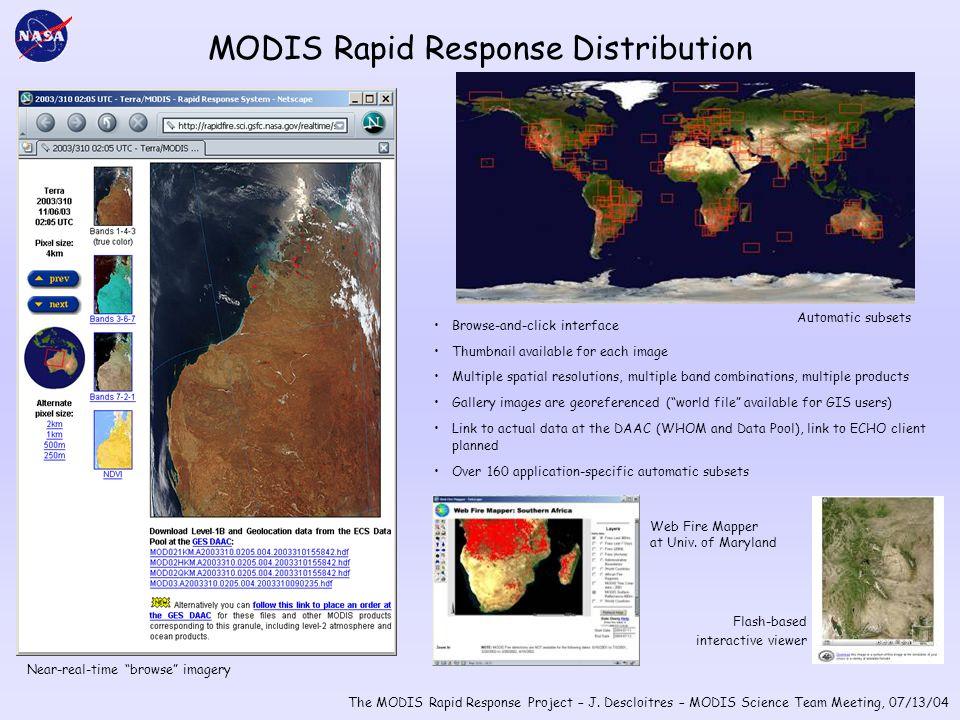 The MODIS Rapid Response Project – J.