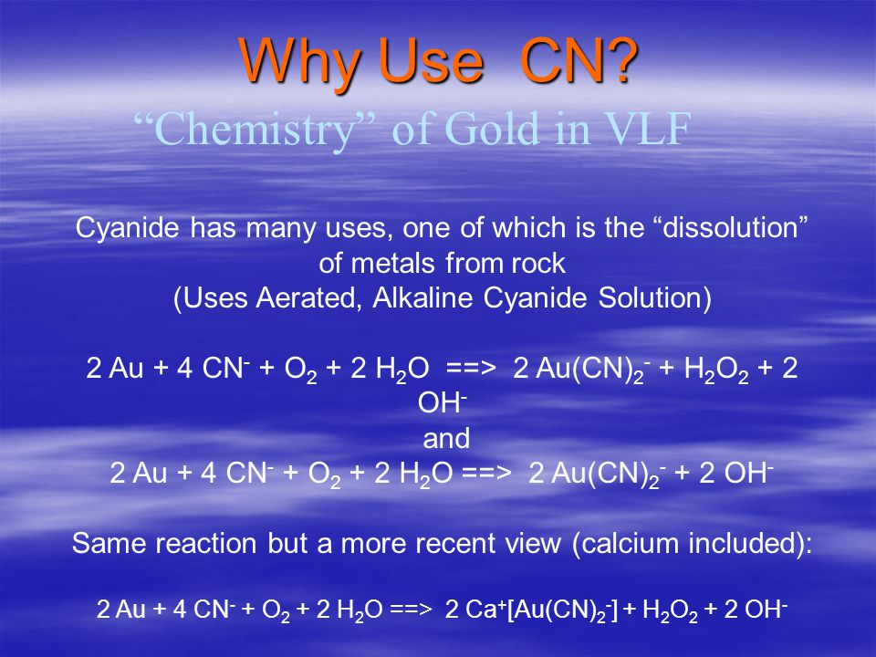 CYANIDE SAFETY The use of cyanide for the extraction of gold is only one of the many industrial uses of cyanide, accounting for less than 20% of world