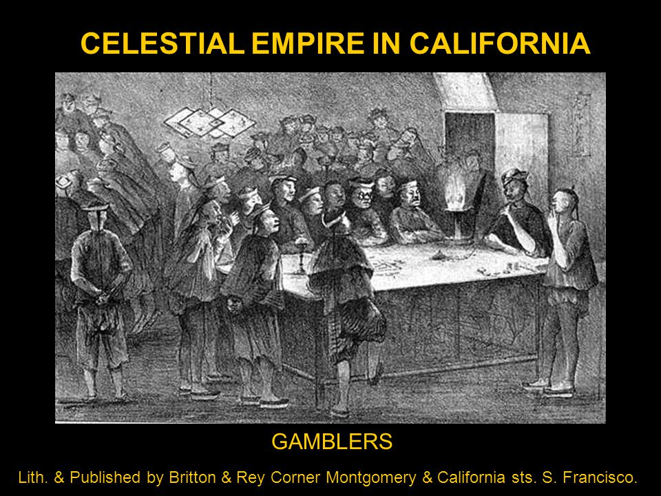 CELESTIAL EMPIRE IN CALIFORNIA Lith.
