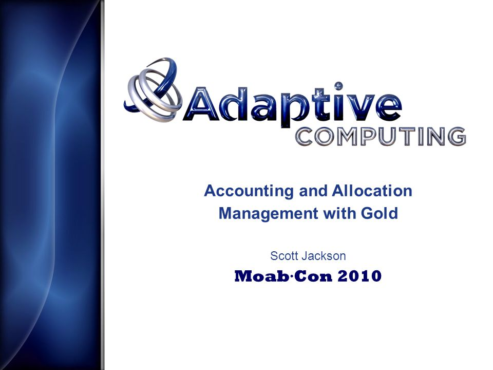 Allocation Manager Gold is an open source allocation system that tracks and charges for resource usage on High Performance Computers.