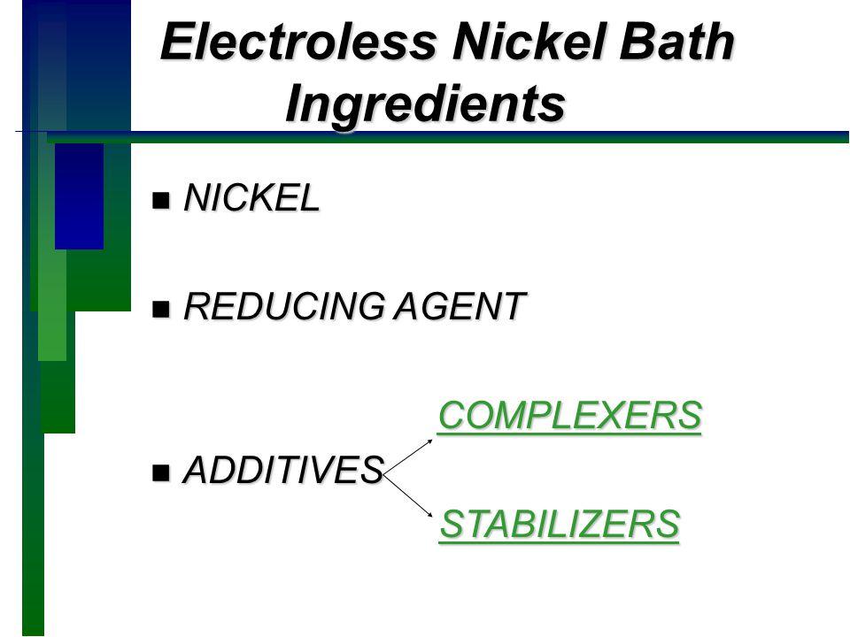 EN Bath Additives Effect on PCBs EN Bath Additives Effect on PCBs n Key to Soldermask compatibility.