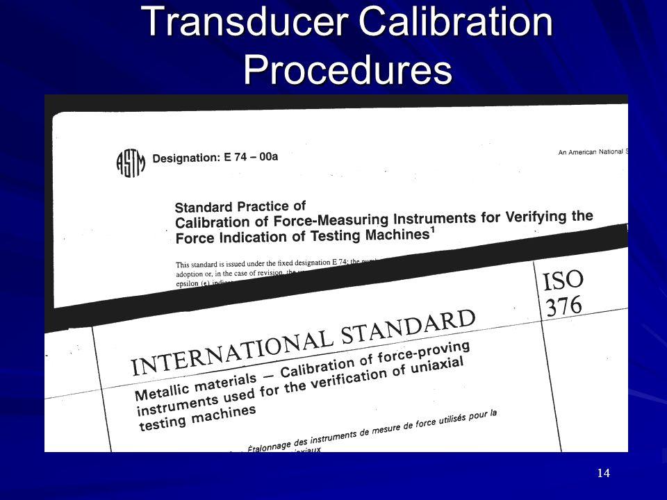 14 Transducer Calibration Procedures