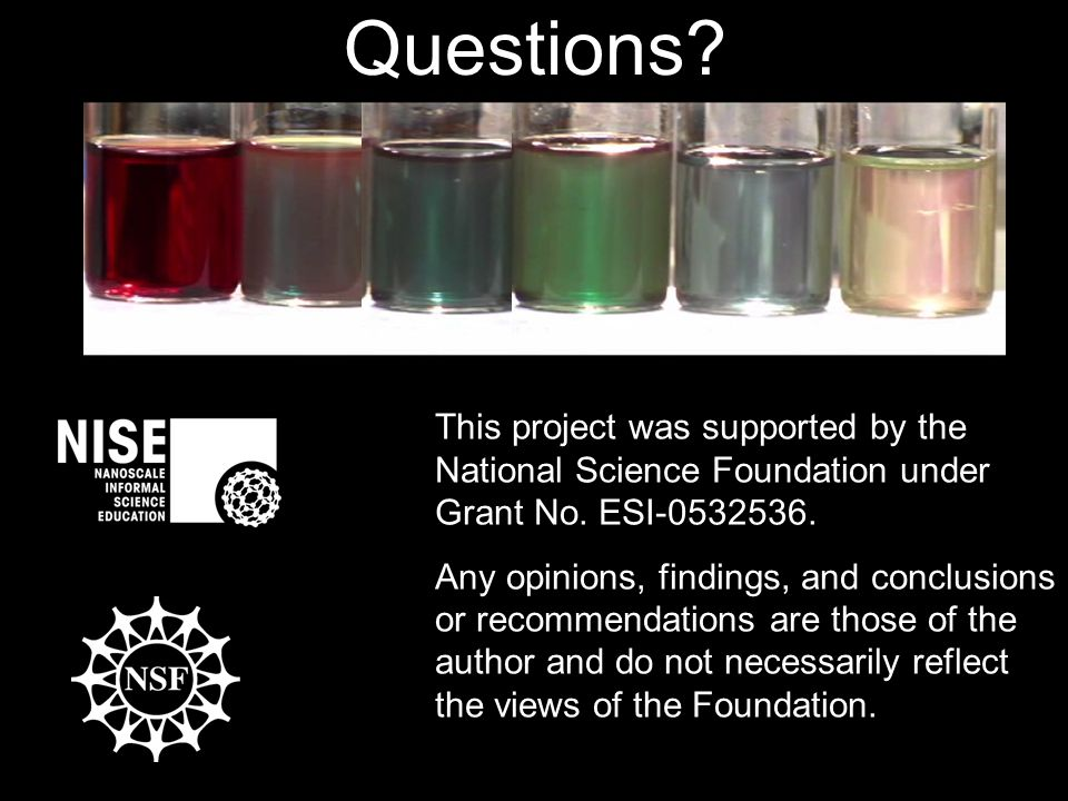 This project was supported by the National Science Foundation under Grant No.