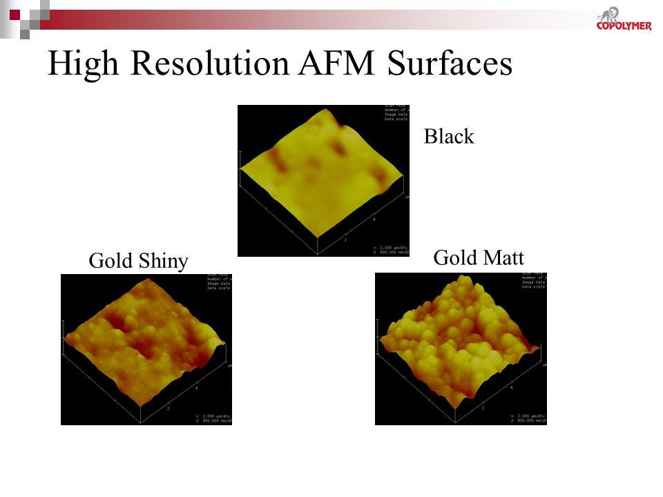 Gold Matt Gold Shiny High Resolution AFM Surfaces Black