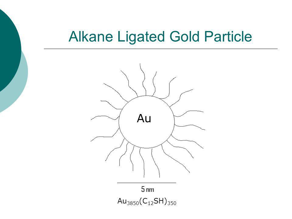 Alkane Ligated Gold Particle Au Au 3850 (C 12 SH) 350