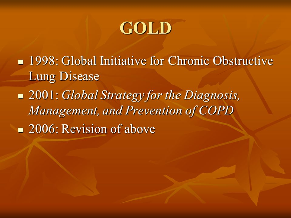 Manage Stable COPD-6 Non-Pharmacologic Treatments Pulmonary rehabilitation Pulmonary rehabilitation Goals: Reduce symptoms, improve quality of life, increase physical and emotional participation in everyday activities Goals: Reduce symptoms, improve quality of life, increase physical and emotional participation in everyday activities Supplemental oxygen Supplemental oxygen Use > 15 h/day improves survival in patients with chronic respiratory failure Use > 15 h/day improves survival in patients with chronic respiratory failure PaO2<55, SaO2 <88% PaO2<55, SaO2 <88% PaO2 55-60, SaO2 = 88% and pulmonary hypertension, evidence of CHF, polycythemia (HCT > 55%) PaO2 55-60, SaO2 = 88% and pulmonary hypertension, evidence of CHF, polycythemia (HCT > 55%)