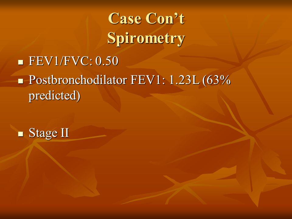 Case Cont Increased dyspnea Increased dyspnea Increase in sputum, now purulent Increase in sputum, now purulent