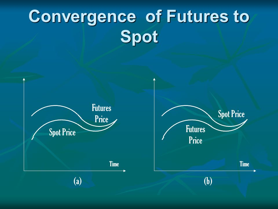 Convergence of Futures to Spot Time (a)(b) Futures Price Futures Price Spot Price